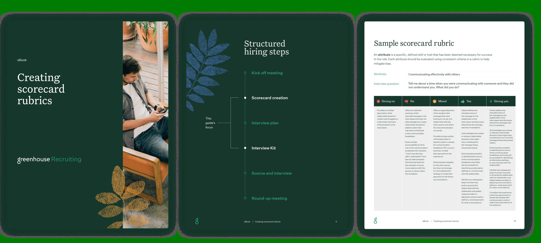 Creating scorecard rubrics sample pages