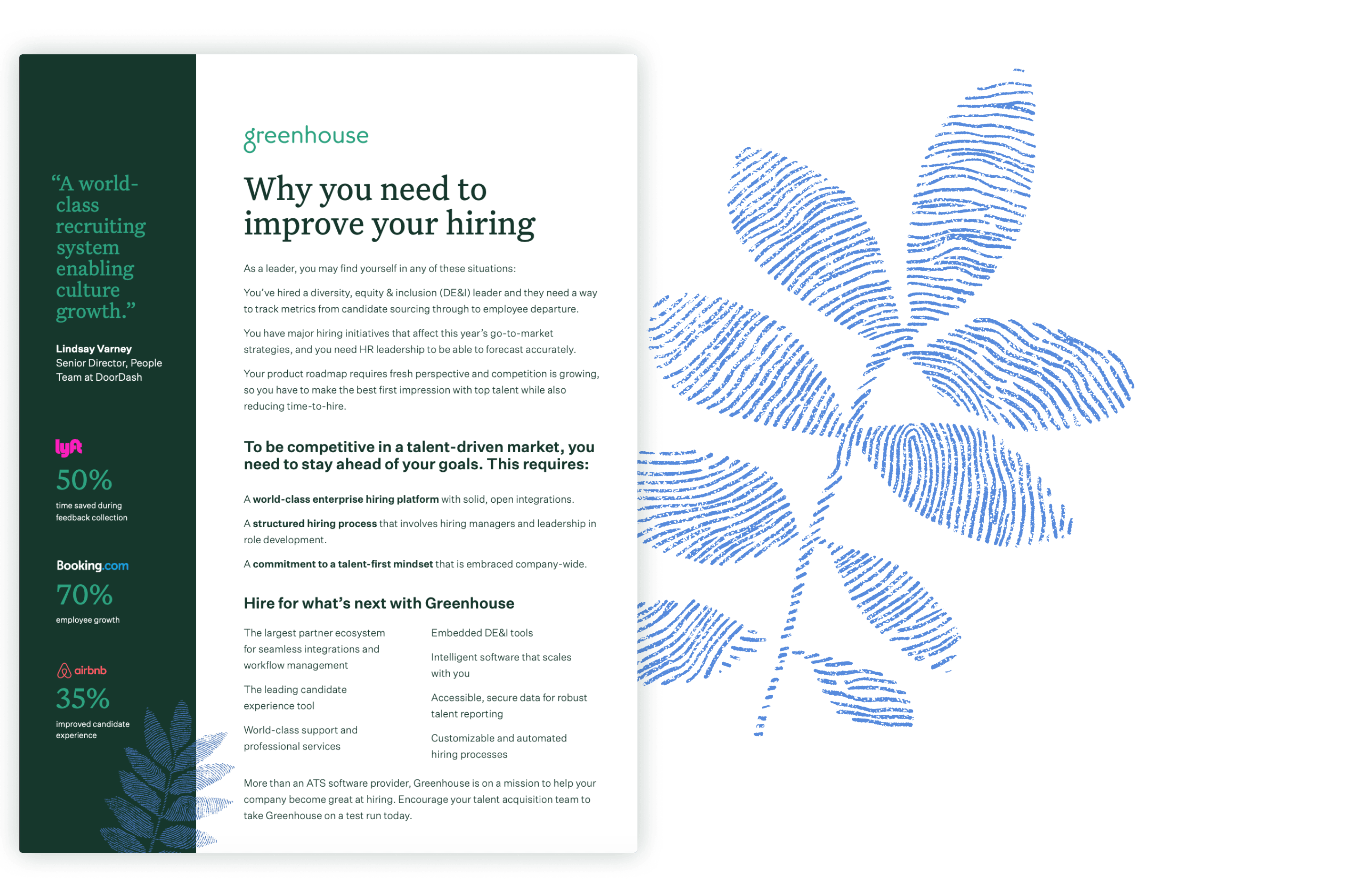Sample pages of the why you need to improve your hiring executive one sheet