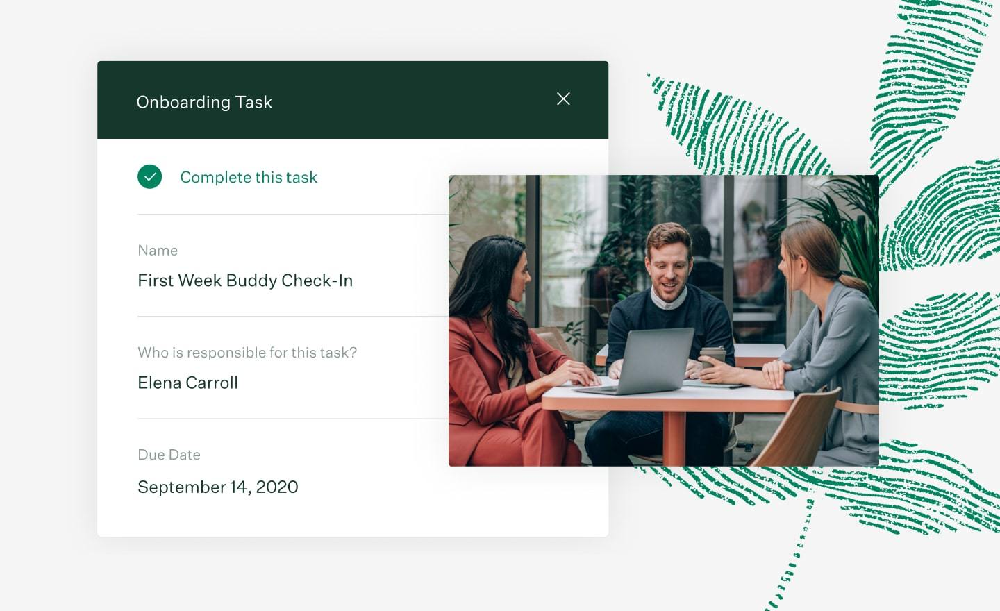 Greenhouse Onboarding Tasks Feature