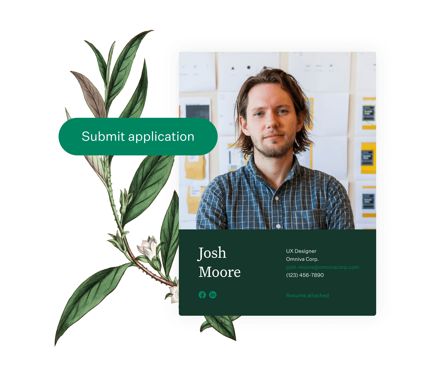 Greenhouse job applicant and button