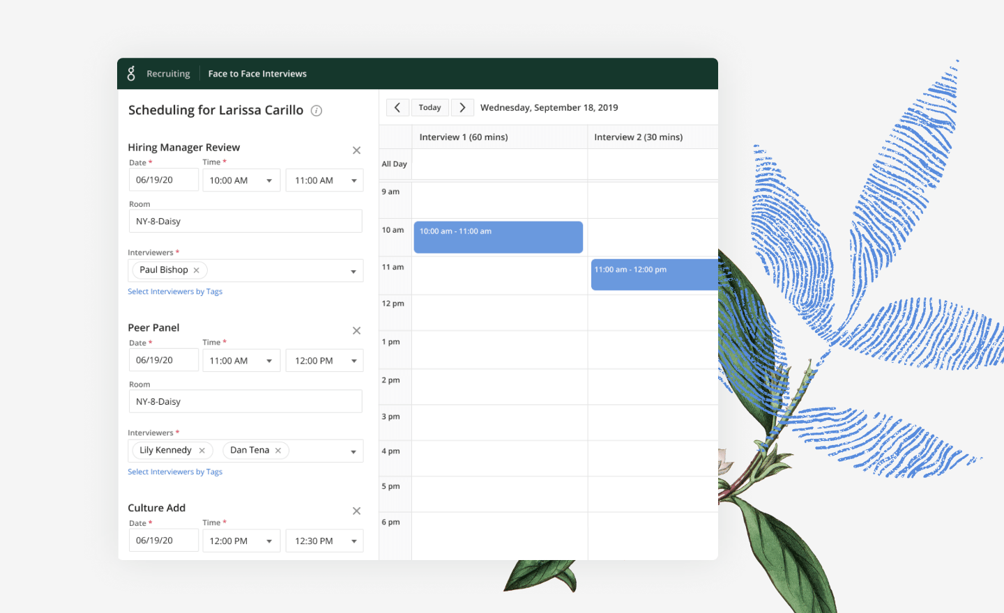 Greenhouse Recruiting scheduling tools