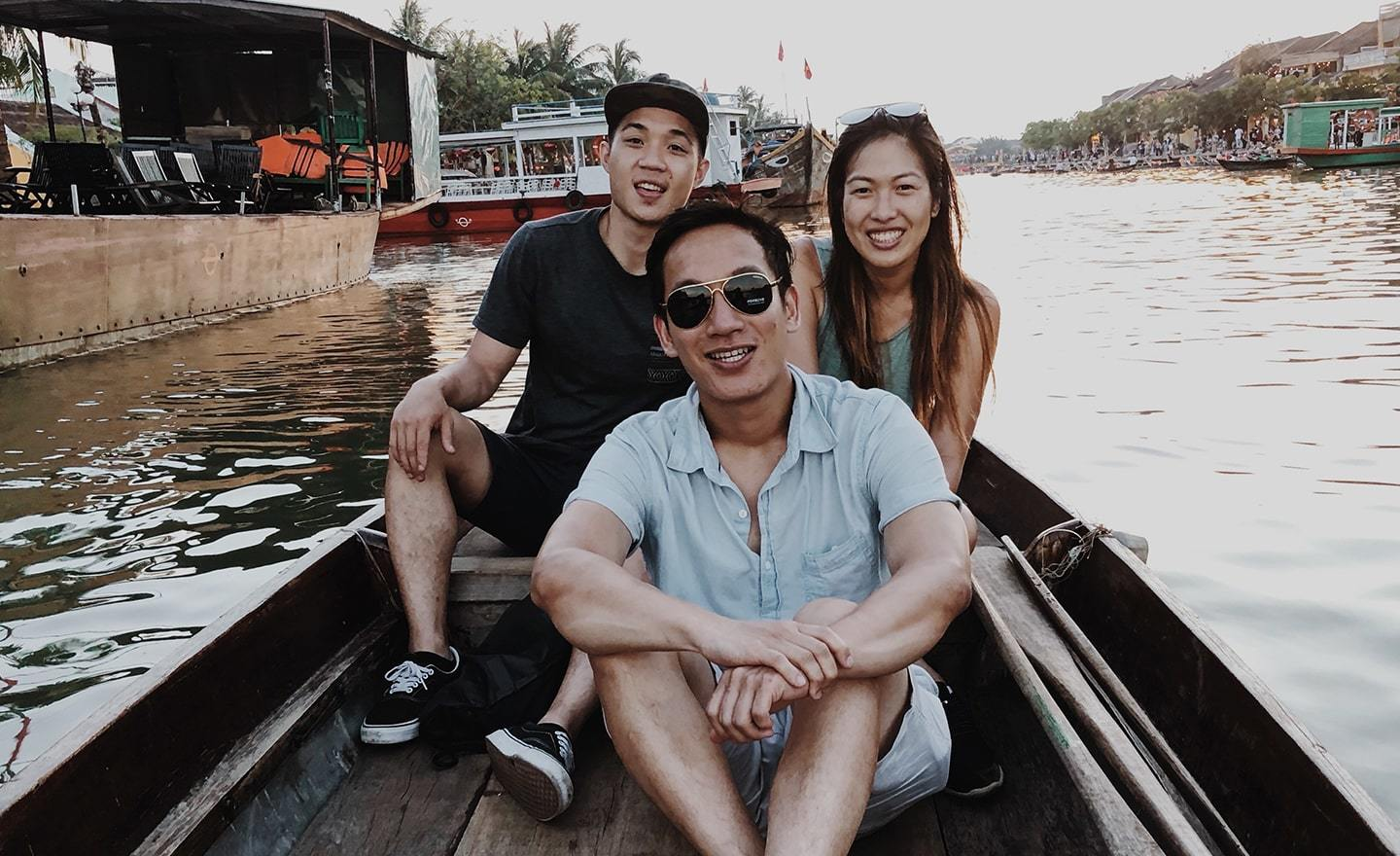 Kevin Do with friends in Thailand