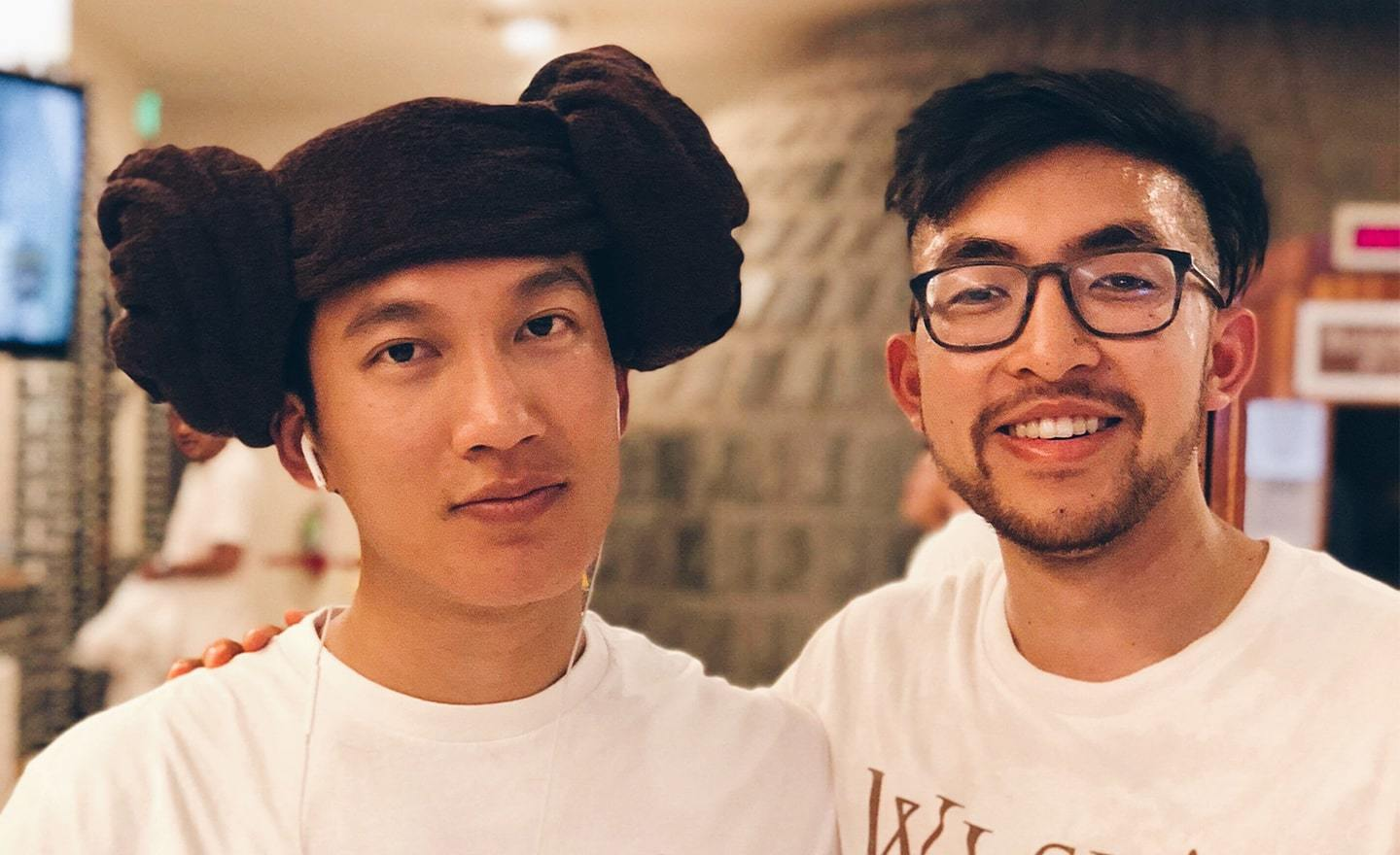 Kevin do with his friend Boss