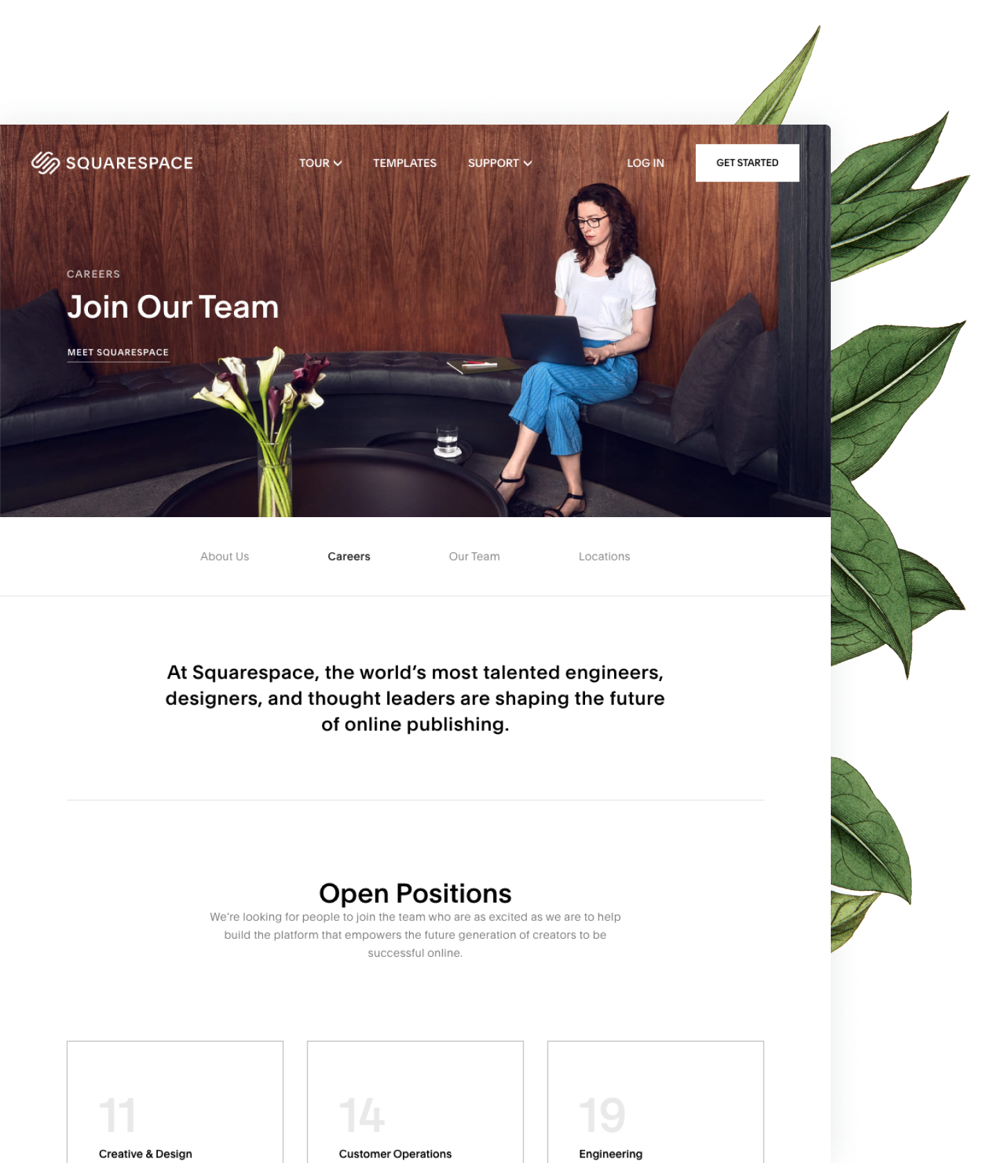 Squarespace career page