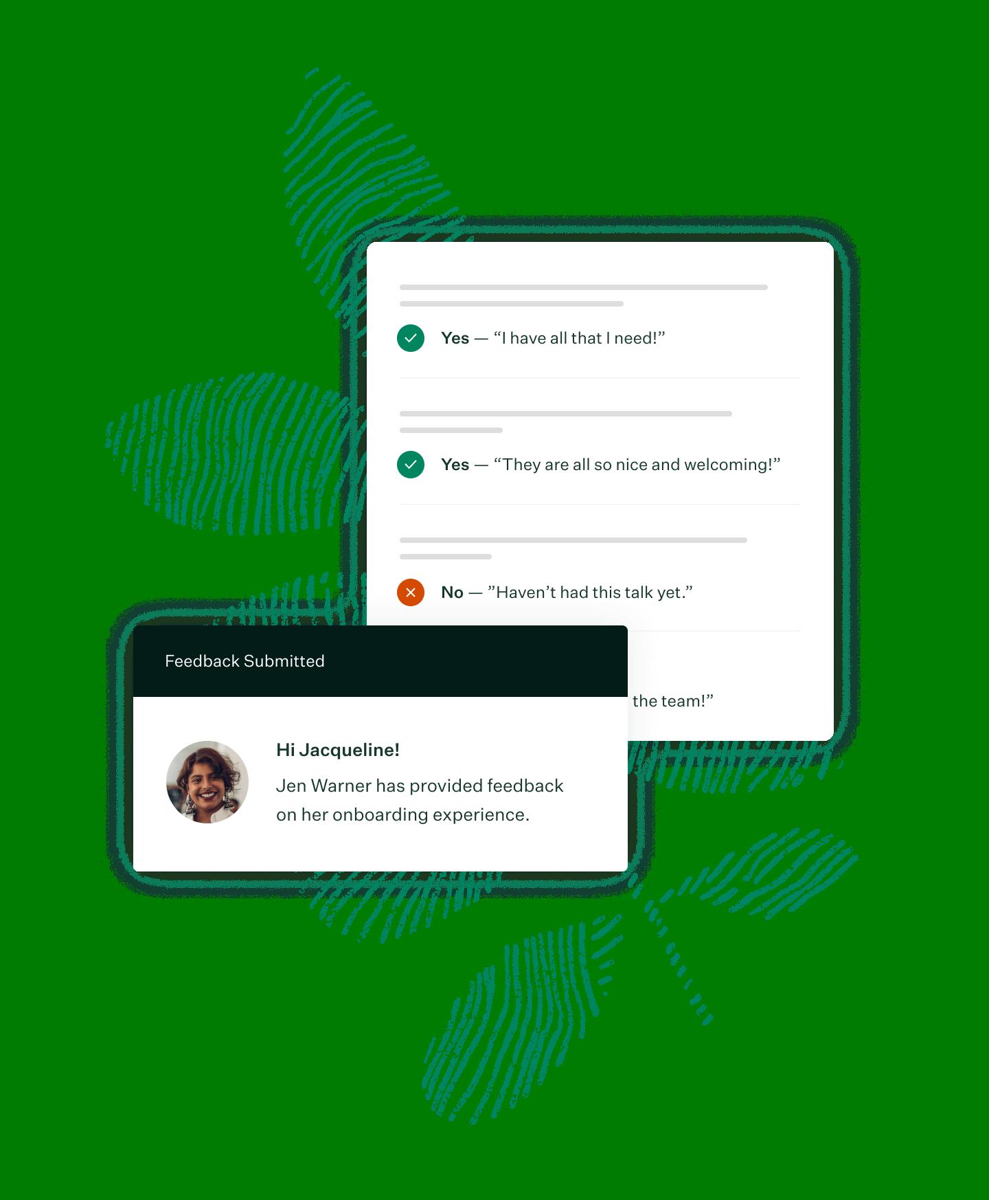 Welcome new hire feedback