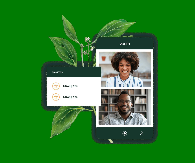 Zoom meeting and Greenhouse scorecard