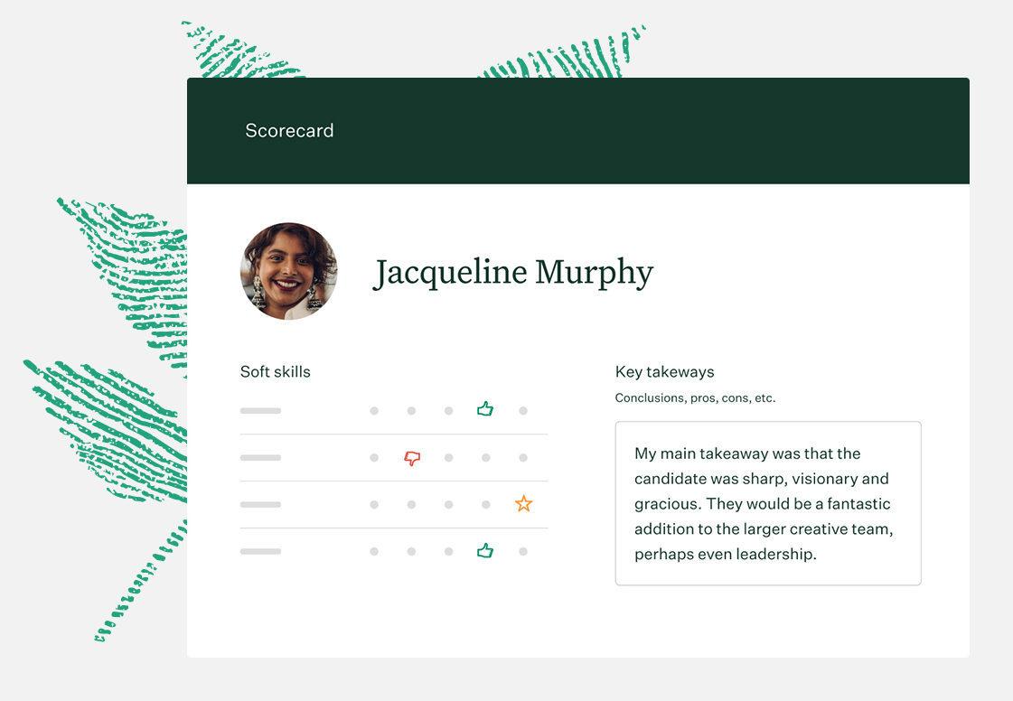 Sample image of a Greenhouse Recruiting Scorecard