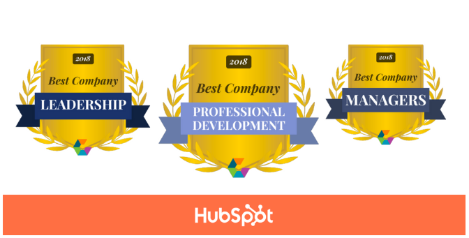 Three top workplace awards for HubSpot