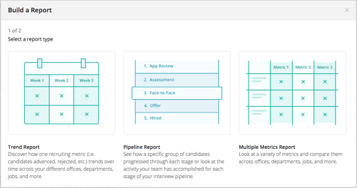 Sample slide of Greenhouse Report Builder types