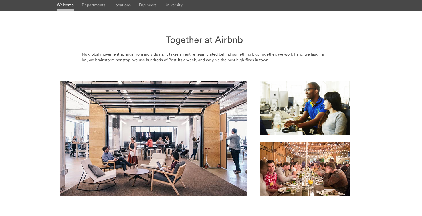 airbnb career page