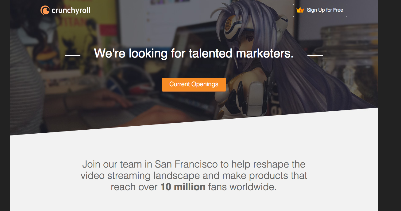 crunchyroll career page
