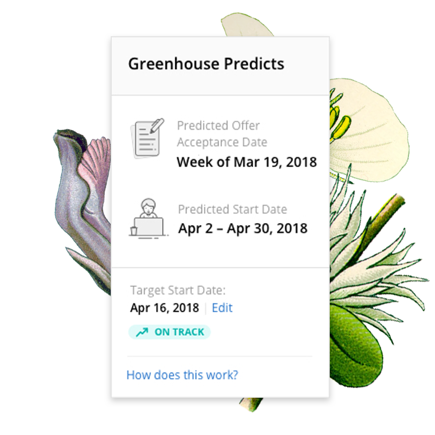 Greenhouse Predicts dashboard view