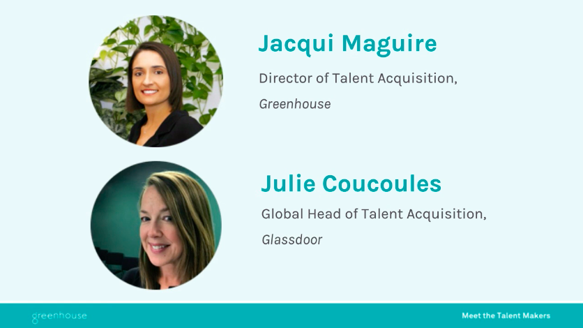 Two speakers from the How Hiring Impacts Culture webinar