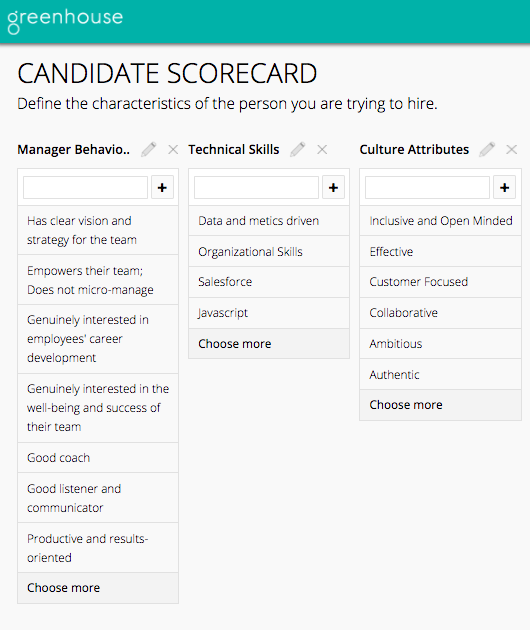 interview questions for managers scorecard