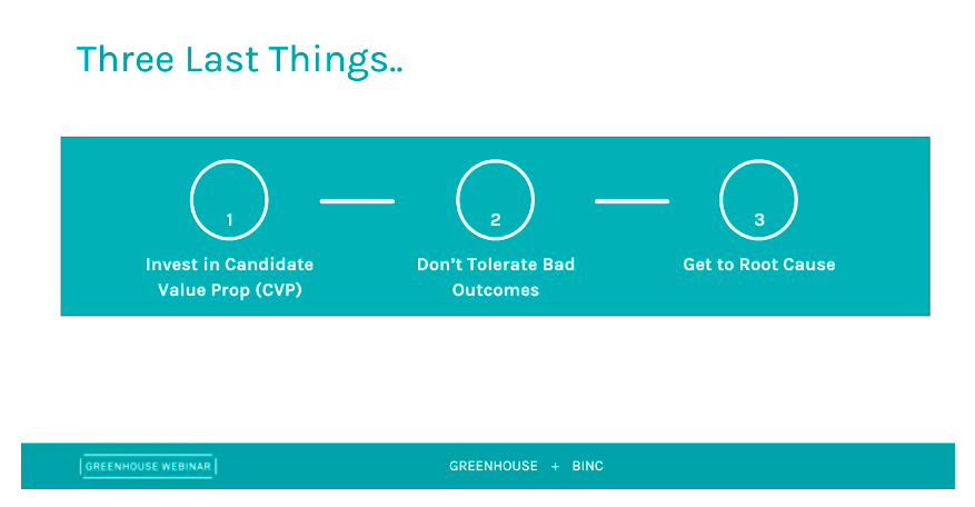 Greenhouse and Binc presentation slide of candidate value proposition