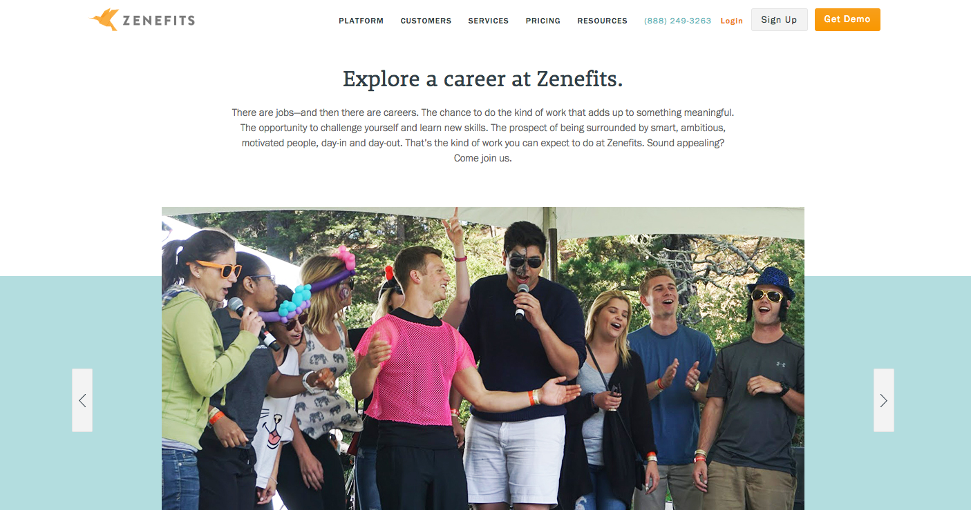zenefits career page