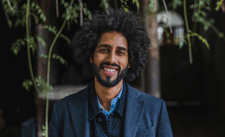 Smiling Black businessman