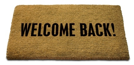 Welcome back mat blog